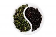 Чёрный+зелёный чай
