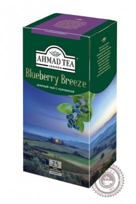 "Чай AHMAD ""Blueberry Breeze"" зелёный 25 пакетов"