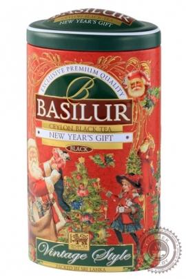 """Чай BASILUR """"Vintage style"""" черный 100 г ж/б"""