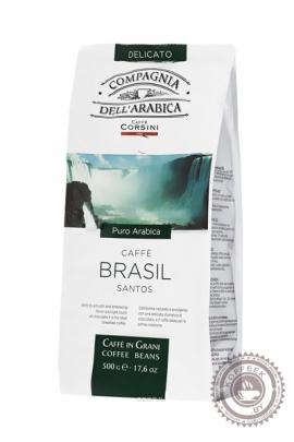Кофе Compagnia Dell'Arabica Brasil Santos кофе в зернах 500 г