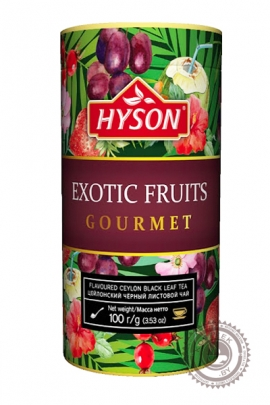 "Чай HYSON ""EXOTIC FRUITS"" 100г ж/б черный"
