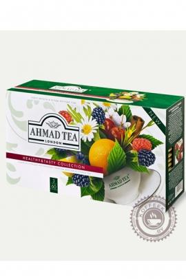 Набор чая AHMAD «Healthy&Tasty» коллекция с добавками 60 пакетов