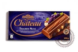 """Шоколад СHATEAU """"Trauben Nuss"""" 200г (молочный с изюмом и цельным фундуком)"""