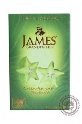 """Чай James & Grandfather """"Starfruit"""" зеленый 100 г с карамболь"""