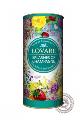 "Чай LOVARE ""Splashes of Champagne"" черный+зеленый 80г"