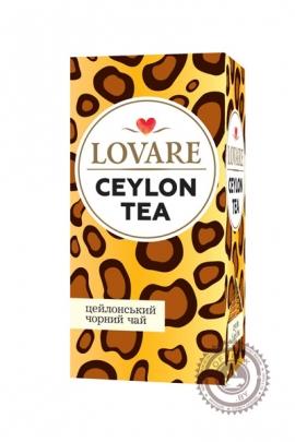 """Чай LOVARE """"CEYLON TEA"""" черный 24 пак"""