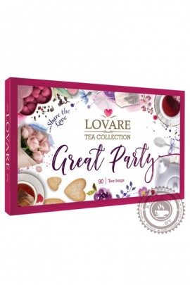 "Набор чая LOVARE ""Great Party"" ассорти 90 пакетов"