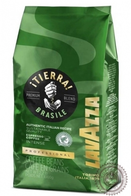 "Кофе LAVAZZA ""TIERRA BRAZIL "" зерно 1000г"