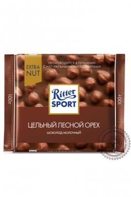 "Шоколад RITTER SPORT ""Лесной Орех"" молочный 100г"