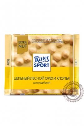"""Шоколад RITTER SPORT """"Цельный лесной орех и хлопья"""" 100г"""