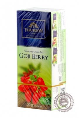 """Чай THURSON """"GOJI BERRY"""" зеленый 25пак"""