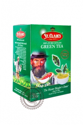 Чай ST.CLAIR'S 100г зелёный крупнолистовой
