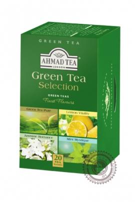 """Чай AHMAD """"Green Tea Selection"""" зеленый 20 пакетов"""