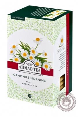 """Чай AHMAD """"Camomile Morning"""" травяной чай в фольгированных пакетиках, 20 шт"""