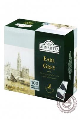 """Чай AHMAD """"Earl Grey"""" 100 пакетов (с бергамотом) черный без ярлыка"""