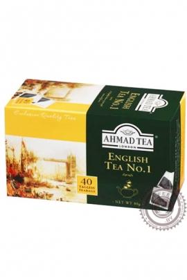"""Чай AHMAD """"English tea № 1"""" черный 40 пакетов"""
