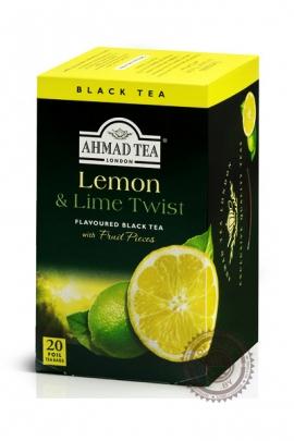 "Чай AHMAD ""Lemon & Lime Twist"" черный 20 пакетов с ароматом лимона и лайма"
