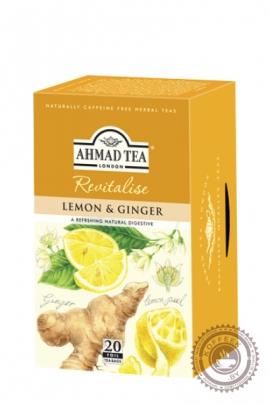 "Чайный напиток AHMAD ""Lemon & Ginger"" 20 пакетов"