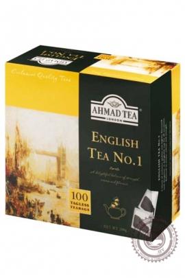 """Чай AHMAD """"English tea № 1"""" черный 100 пакетов без ярлыка"""