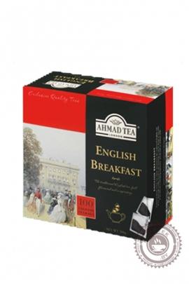 "Чай AHMAD ""English Breakfast"" 100пак черный без ярлыка"