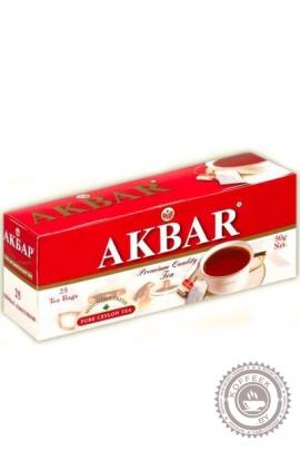 Чай AKBAR 25 пак чёрный
