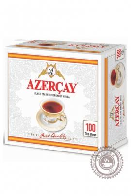 """Чай """"Азерчай"""" 100 пакетов черный с бергамотом 200 г"""