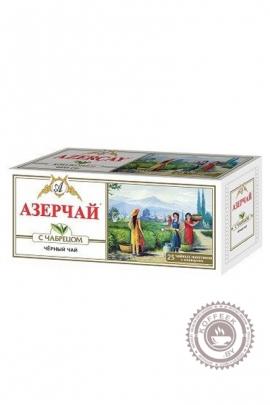 """Чай """"Азерчай"""" 25 пакетов черный с чабрецом 50 г"""