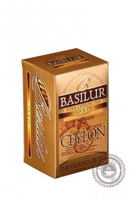 """Чай BASILUR """"Остров Цейлон"""" черный 25 пакетов"""