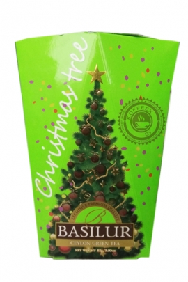 """Чай BASILUR """"Christmas tree""""  зеленый 85 г"""