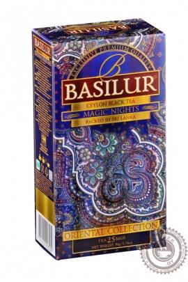 """Чай BASILUR """"Волшебные Ночи"""" черный 25 пакетов"""