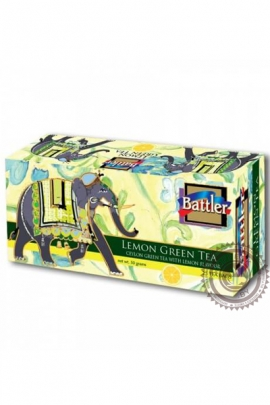 "Чай BATTLER ""Lemon"" зеленый 25 пакетов"