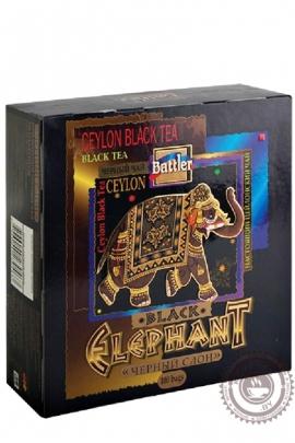 "Чай BATTLER ""Elephant Black"" 100пакетов черный"