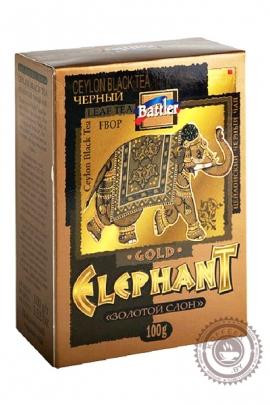 """Чай BATTLER """"Elephant Gold"""" 100г чёрный FBOP"""