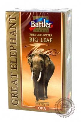 """Чай BATTLER """"Great Elephant"""" черный крупнолистовой 250г"""