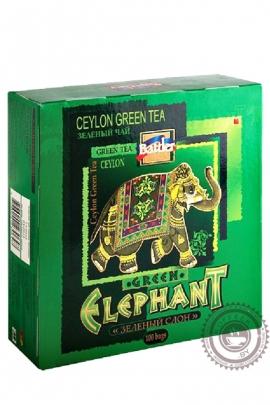 "Чай BATTLER ""Green Tea"" 100 пакетов зелёный"