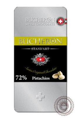 "Шоколад ""Bucheron"" горький с фисташками (жест.уп) 100 г"