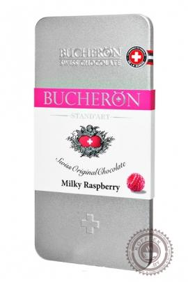 "Шоколад ""Bucheron"" молочный с малиной (жест.уп.) 100 г"