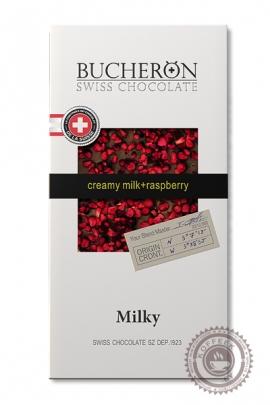 "Шоколад ""Bucheron"" молочный с малиной 100 г"