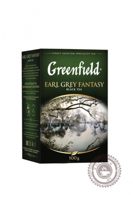 """Чай GREENFIELD """"Earl Grey Fantasy"""" (с бергамотом) 100 г чёрный"""