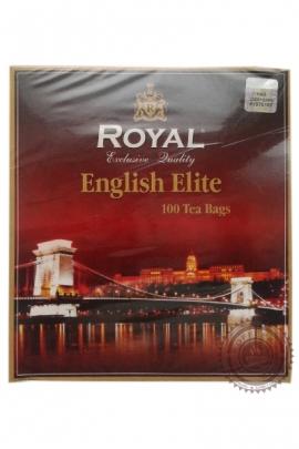 """Чай Royal """"English Elite"""" черный и зелёный чай с маслом бергамота 100 пак по 2г"""