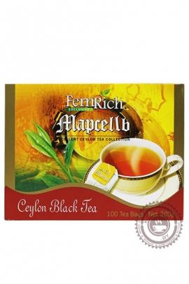 """Чай FEMRICH """"Marcelle"""" черный 100 пакетов по 2г"""