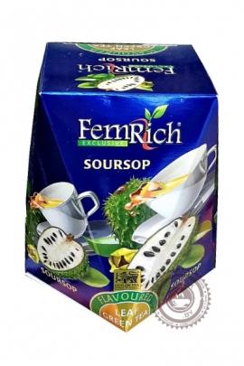 """Чай FEMRICH """"Soursop"""" зеленый 100г"""