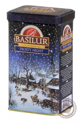 "Чай BASILUR ""Frosty Night"" черный 85 г"