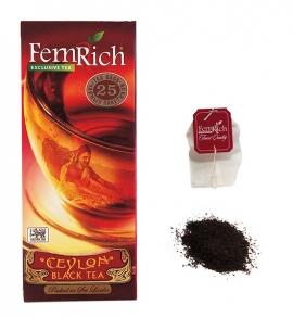 Чай FEMRICH Exclusive Black Tea, черный 25 пакетов
