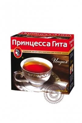 """Чай Принцесса Гита """"Индия"""" черный в пакетиках, 100 шт без ярлыка"""