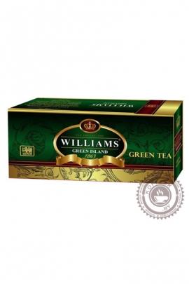 "Чай Williams ""Green Island"" зеленый с суасепом, 25 пакетов"
