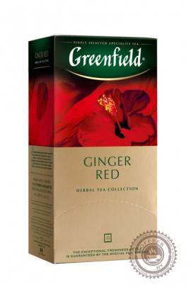 "Чайный напиток GREENFIELD ""Ginger Red"" (шиповник, гибискус) 25 пакетов"