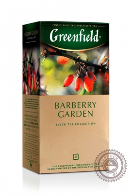 """Чай GREENFIELD """"Barberry Garden"""" (с барбарисом) черный 25 пакетов"""