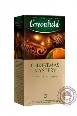 """Чай GREENFIELD """"Christmas Mystery"""" черный 25 пакетов"""