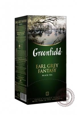 "Чай GREENFIELD ""Earl Grey Fantasy"" (с бергамотом) 25 пак чёрный"